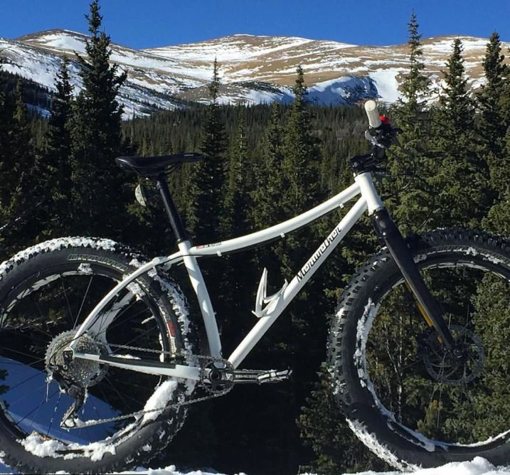 Mike's fatbike in the Indian Peaks
