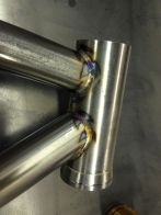 Head tube welds with pulser set at about 125 peak amps, 15% background, 35% peak time, 1.7pps.