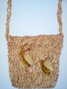 Καλοκαιρινή τσάντα, με επεξεργασμένο ρατάν, για δική μου χρήση.