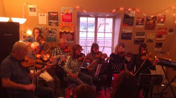 Iain with his Thursday fiddle group