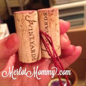 valentine wine cork heart craft