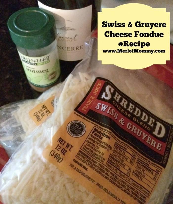 Easy Swiss and Gruyere Cheese Fondue #Recipe
