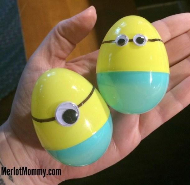 DIY Easy Minion Easter Eggs