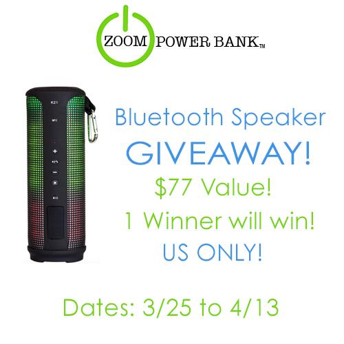 Bluetooth Speaker Giveaway ends 4/13