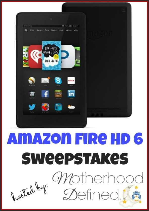"Enter to win an Amazon Fire HD 6"" #Giveaway ends 4/26"