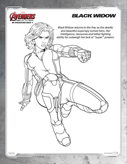 Avengers: Age of Ultron Coloring Sheets #Avengers #AvengersAgeofUltron #AvengersEvent