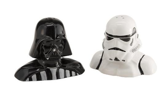 Darth Vadar Stormtrooper Salt and Pepper Shakers