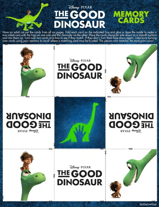 Disney/Pixar's THE GOOD DINOSAUR Coloring and Activity Sheets