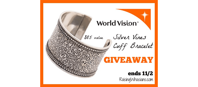 Enter to Win a World Vision Silver Cuff Bracelet #Giveaway ends 11/2