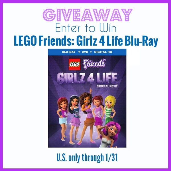 Giveaway Lego Friends Girlz 4 Life Blu Ray Ends 131 Whisky