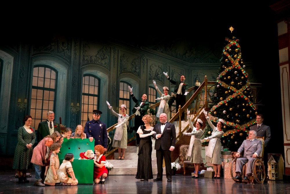"""The Company in """"A New Deal for Christmas."""" Photo credit: ©JOAN MARCUS."""