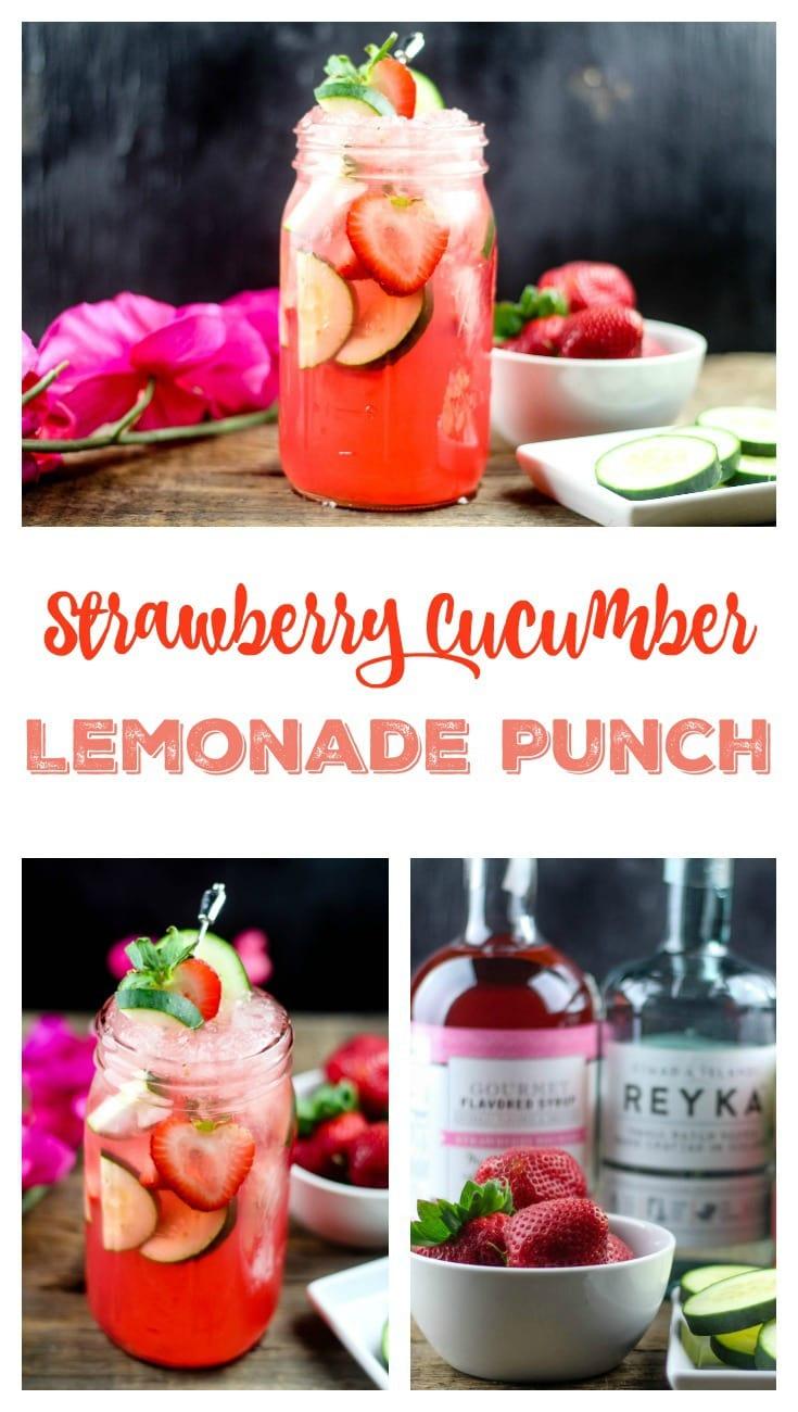 Strawberry Cucumber Lemonade Punch