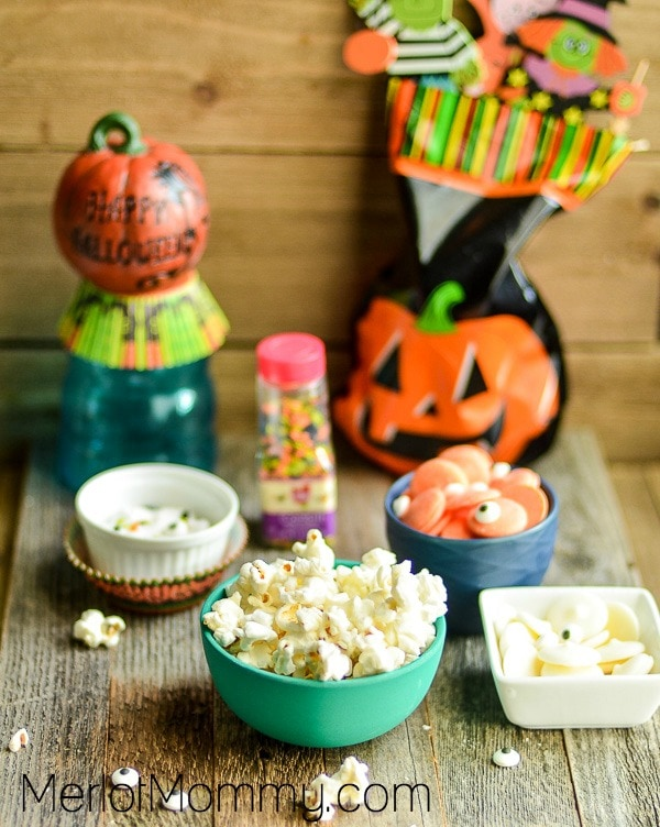Halloween Popcorn Treats Process and Ingredients