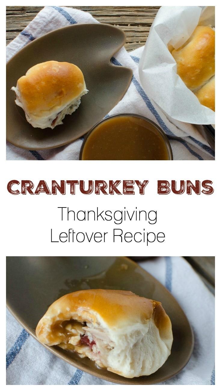 Cranturkey Buns - Thanksgiving Leftover Recipe