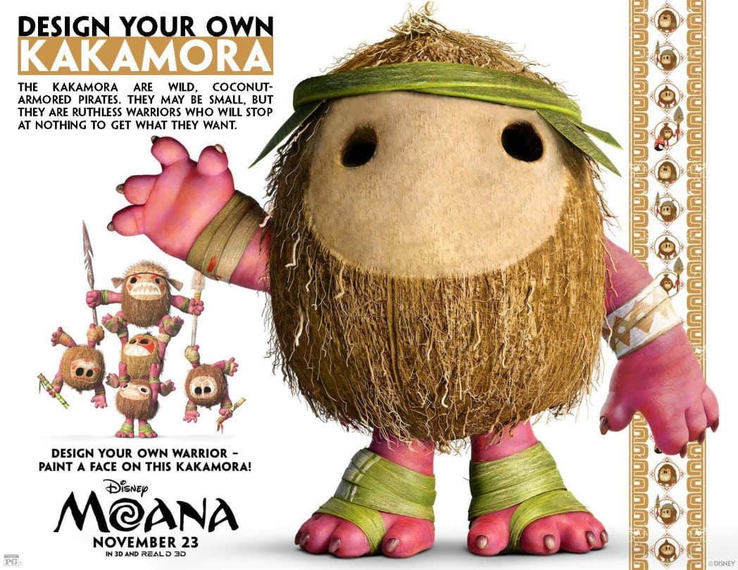 Design Your Own Kakamora - Moana