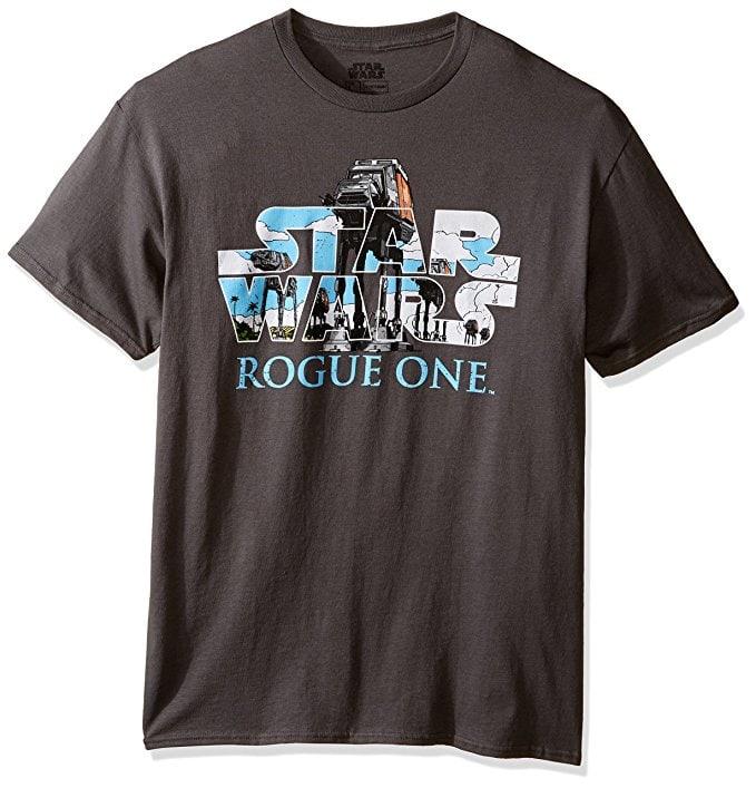 Star Wars Men's Rogue One At-Act Logo T-Shirt