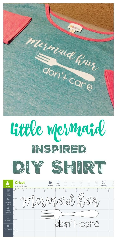 DIY Little Mermaid Inspired Shirt