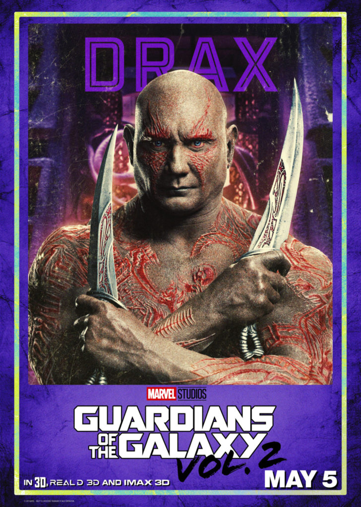 Guardians of the Galaxy Dave Bautista as Drax