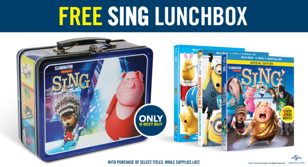 Grab the Sing Movie Set with a Limited Edition Lunchbox