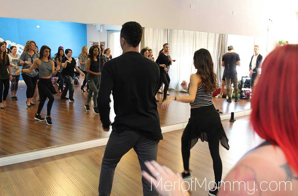 Attempting to Dance with the Dance Troupe of Dancing with the Stars