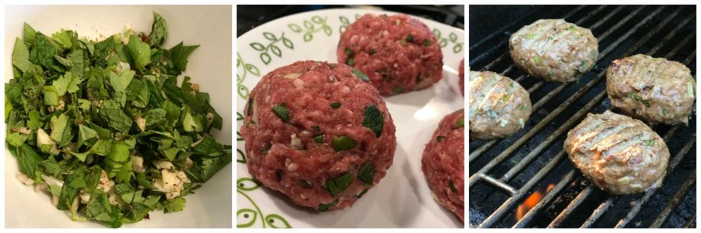 Mediterranean Spicy Lamb Burgers