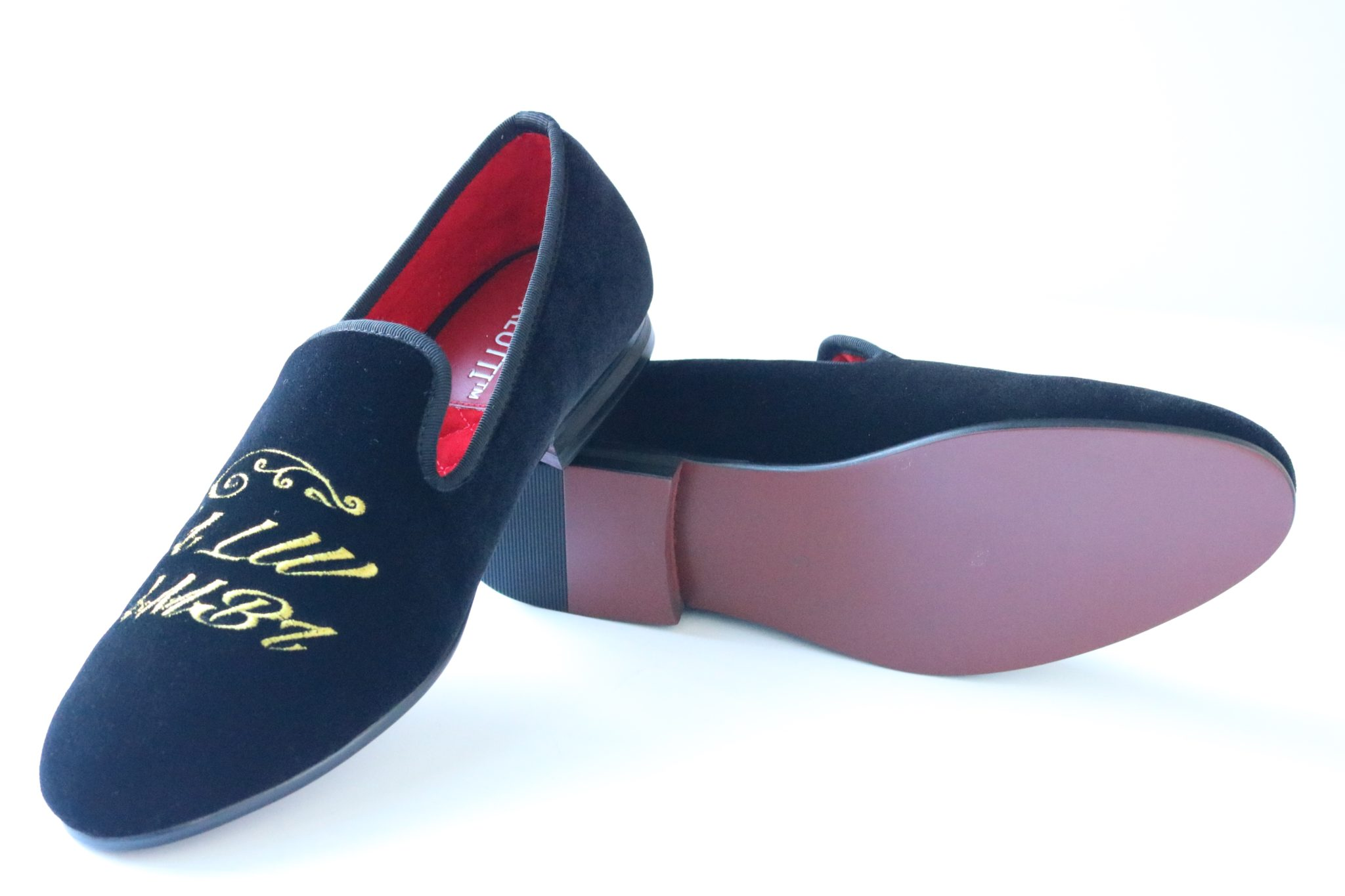 "Black Velvet Loafers ""Always Ambitious"""