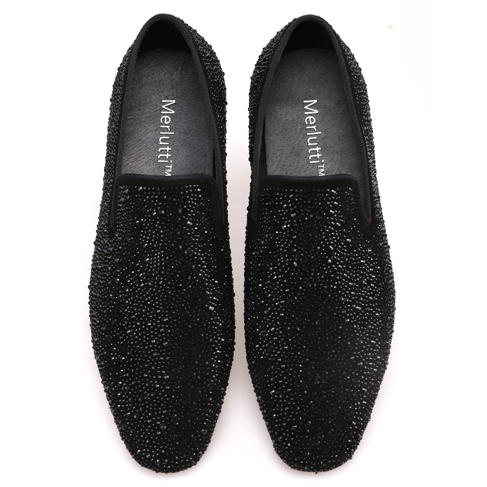 flat black loafer shoes
