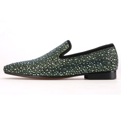 Green Crystal Loafer