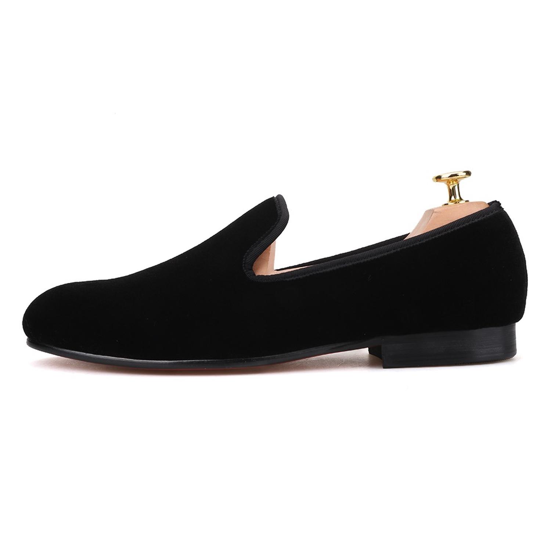 795f5e29e Plain Black Velvet Loafers - Merlutti