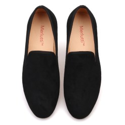 Plain Suede Leather Loafers