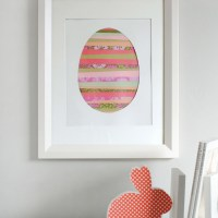 Paper Strip Easter Egg Art