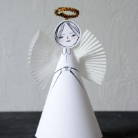 Easy Paper Angel Craft