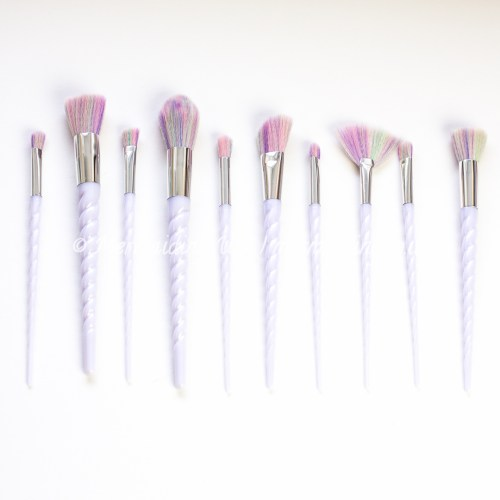 unicorn brushes set of 10 | Mermaiding UK | mermaiding.co.uk