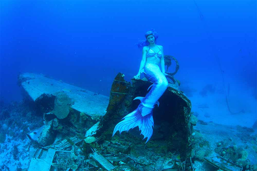 A mermaid at Truk Lagoon