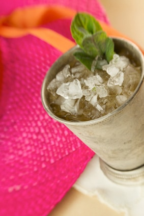 Kentucky Derby Mint Julep Recipe via @mermaidsandmojitos