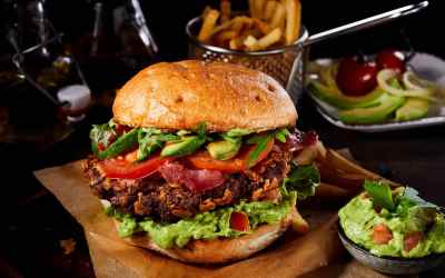 South of the Border Burger with Guacamole