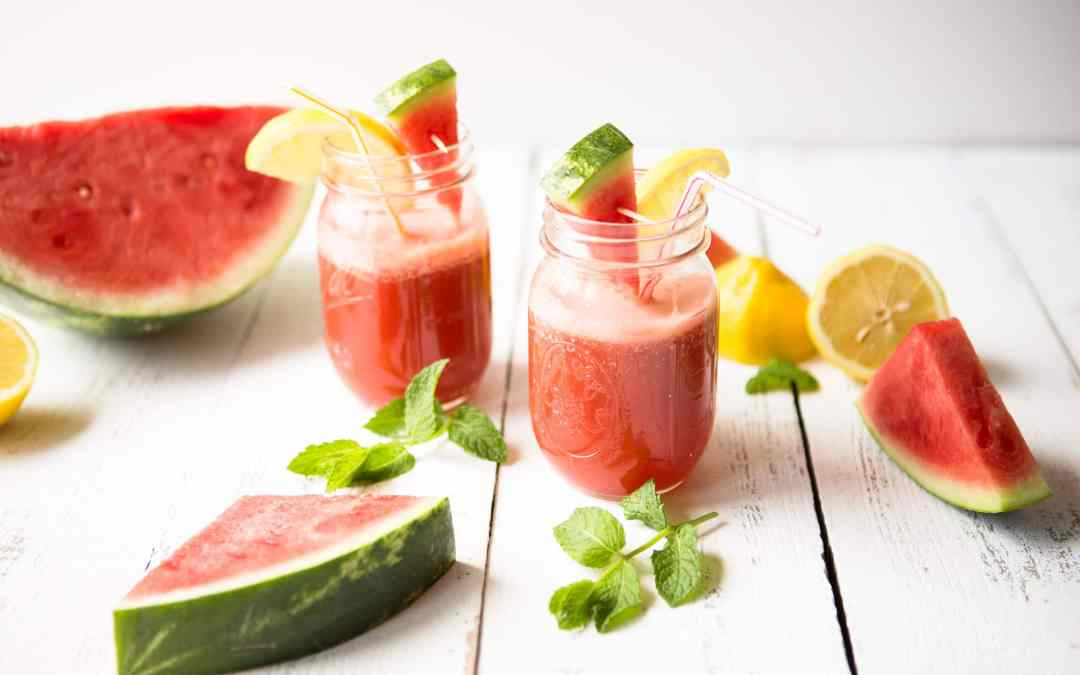Easy Watermelon Ginger Sparkling Water Recipe