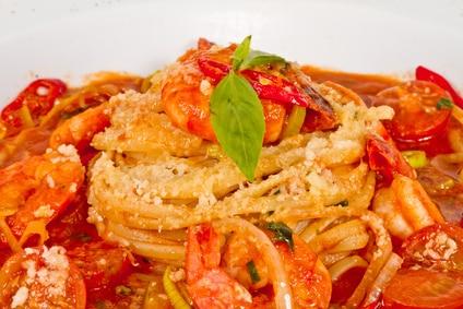 Bloody Mary Shrimp Pasta