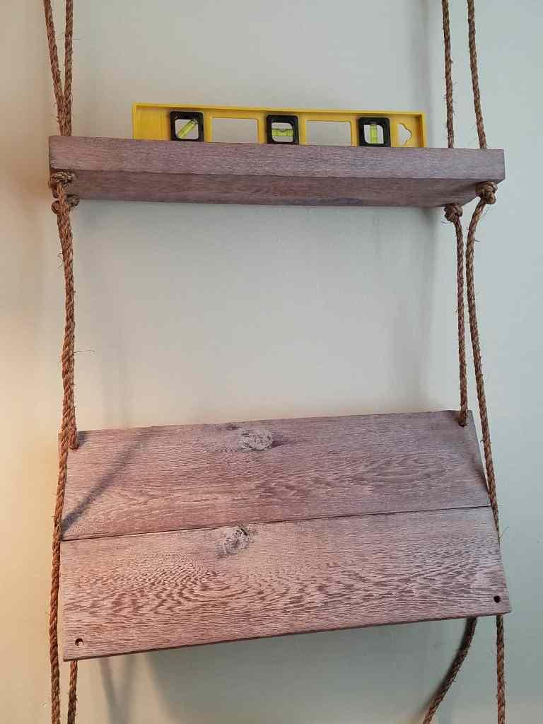 Easy DIY hanging shelf | add bottom shelf and keep it level