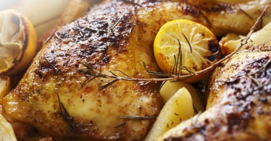 Simple Roast Lemon and Rosemary Chicken