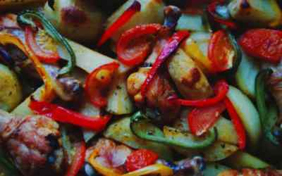 Grilled Chicken with Peppers and Onions