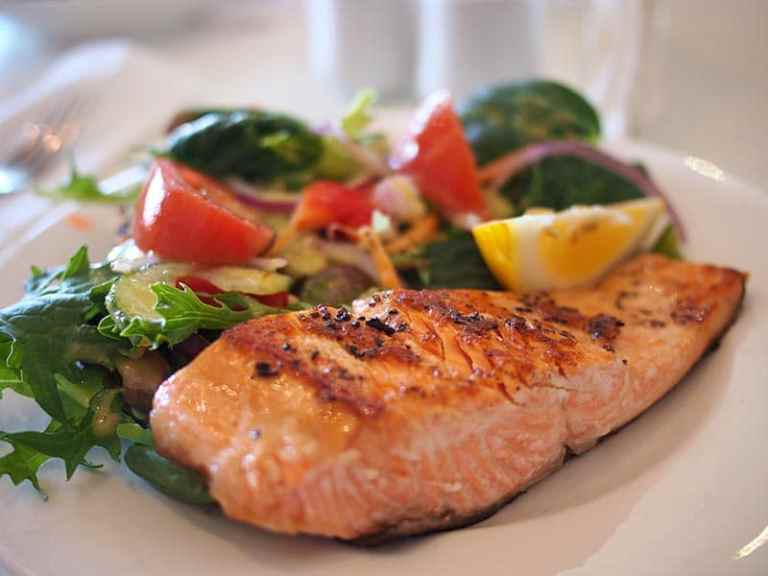 Lemon Rosemary grilled salmon