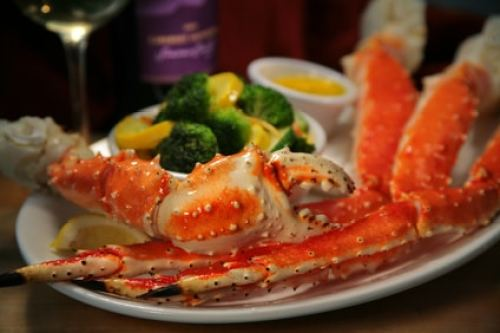 Steamed Alaskan king crab