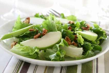Apple, Brie, and Pistachio Tossed Salad