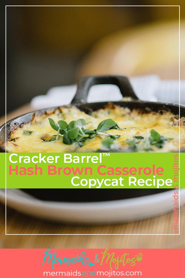 Cracker Barrel Hash Brown Casserole Copycat Recipe   Mermaids & Mojitos