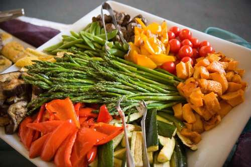 Roasted vegetable platter