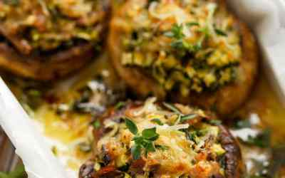 crab stuffed portabella mushrooms