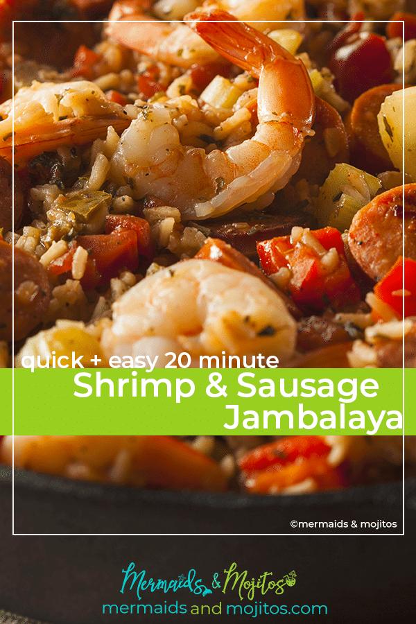 20 minute Shrimp and Sausage jambalaya
