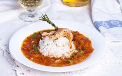 Spicy Shrimp and Sausage Gumbo