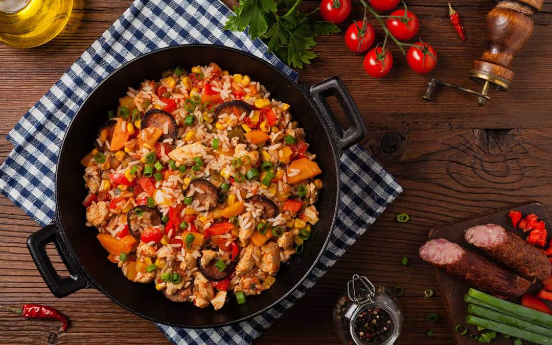 Quick and Easy Chicken and Shrimp Jambalaya